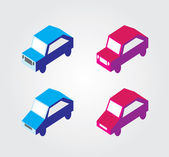 Simple web icon in vector: isometric transport — Stockvektor