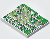 Simple web icon in vector: isometric city — Stock Vector