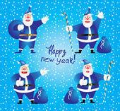 Illustration: Cartoon Santa Claus — Stock Vector