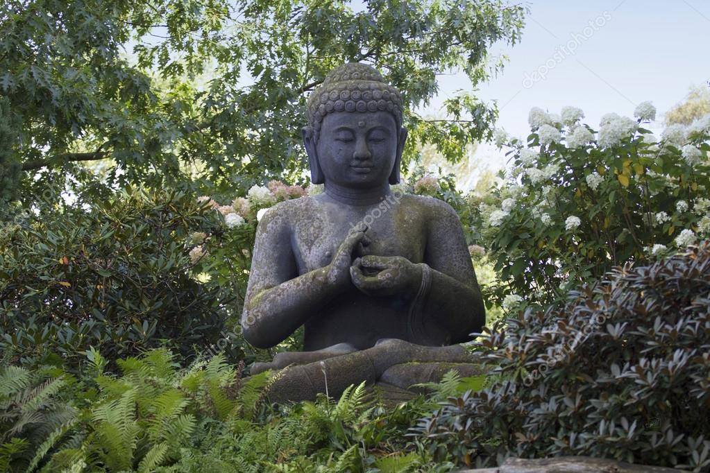 Old buddha in the green one  Stock Photo #18052451