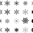 Snowflakes - Vektorgrafik