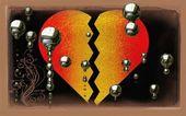 Brustet hjärta — Stockfoto