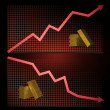 Stock market graph — Stock Photo
