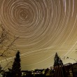 Startrails photography — 图库照片