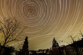 Startrails photography — Stock Photo