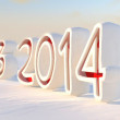 Stock Photo: 2014 calendar countdown in snow