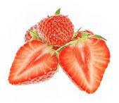 孤立的草莓 — 图库照片