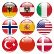 Country buttons — Foto Stock