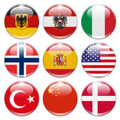 Country buttons — Stock Photo