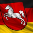 Flag Lower Saxony — Stock Photo