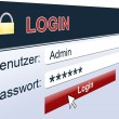 Royalty-Free Stock Photo: Login sign