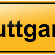 City sign stuttgart — Stock Photo
