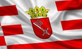 флаг города бремен — Стоковое фото