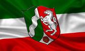 Flag of North Rhine-Westphalia — Stock Photo