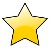 Shiny golden star icon — Stock Photo