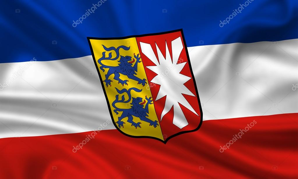 Flag of Schleswig-Holstein, Germany. Close Up. — Stock Photo #13973499