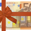 Stock Photo: Bank note with red ribbon