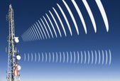 Mobile radio radiation — Stockfoto
