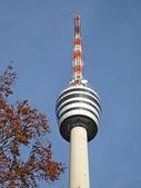 Torre de tv de construção em stuttgart, alemanha — Foto Stock