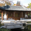 Chinese garden, tempel house panorama — Stock Photo #24050121
