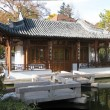 Chinese garden, tempel house panorama — Stock Photo