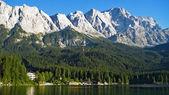 Zugspitze, eibsee — Stockfoto