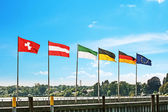 Waving flags — Stock Photo