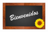 Bienvenidos, welcome sign — Stock Photo