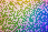 Mosaic tile wall, multicolored — Stock Photo