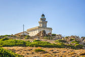 Lighthouse at Capo Testa, Sardinia — Stock Photo