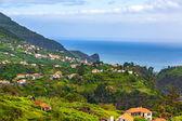Krajobraz madery w pobliżu faial i porto da cruz — Zdjęcie stockowe