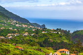 Madeira landschap in de buurt van faial en porto da cruz — Stockfoto