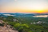 La Maddelena, Sardinia, sunset at the shore — Stock Photo