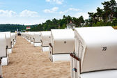Beach chairs in Binz at the beach — Stock Photo