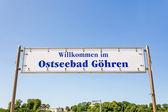 Pier sign, Gühren, Rügen — Stock Photo