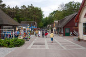Pedestrian precinct in Prerow — Stock Photo