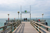 Pier in Graal-Mueritz — Stock Photo