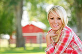 A Young Farm Girl — Stock Photo
