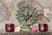 Bronze statue representing shyva Nataraja, the cosmic danse — Stock Photo