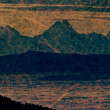 Panoramic mountain view in paper sheet painting — Stock Photo #25395927