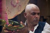 Oração de brahman durante uma cerimônia hindu no nepal — Foto Stock