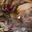 Detail of Hindu ceremony (Puja) in Teraï, west part of Nepal — Stock Photo #27619041
