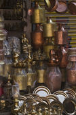Bronze and copper handicraft market, Nepal — Foto de Stock