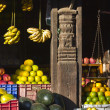 Fruit shop in nepali Market, Kahmandu — Stock Photo