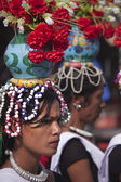 Cultural program - Elephant festival, Chitwan 2013, Nepal — Stock Photo