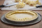 Preparing an apple pie — Stock Photo