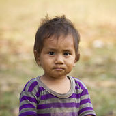 Young kid face in Nepal — Stock Photo