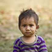 Young kid face in Nepal — Foto de Stock