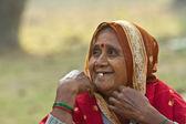 Portrait of laughing Nepali woman — Stock Photo