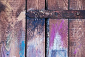 The old wooden colored shutter — Stock Photo